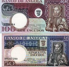 BILLETS ANGOLA 100 ESCUDOS 1972 et AUTRES ( LOT de 11 BILLETS ) SPL/NEUFS /UNC