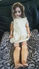 """VINTAGE GERMAN BISQUE 24"""" DOLL MARKED 136/8,PRETTY PERFECT FACE, NEEDS ATTENTION"""
