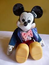 Vintage Disney Wind Up Musical Mickey Mouse Porcelain Doll Figurine