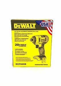 "Dewalt DCF885B 1/4"" Cordless Impact Driver 20-Volt Max Lithium-Ion New IN BOX"
