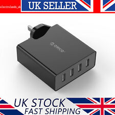 ORICO 4 Port Fast Universal USB Wall Charger Multi Plug UK Travel Power Adapter