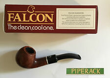 NEW FALCON COOLWAY  9mm FILTER BRIAR PIPE (SHAPE No 103) BENT APPLE BOWL