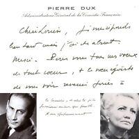 🌓 Pierre DUX Carte de visite à la comédienne Louise CONTE Comédie Française #1