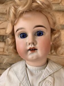 Wilhelm Dehler Antique Doll Incredible Body Blue Eyes