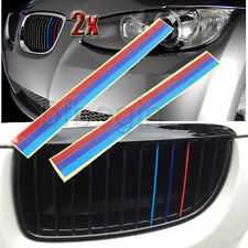 2x Color Grille Grill Vinyl BADGE Strip Sticker Decal For BMW KIDNEY M SPORT M3