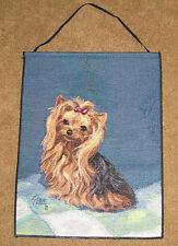 Yorkie Yorkshire Terrier Tapestry Bannerette Wall Hanging ~ Artist, Linda Picken