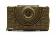 MIMCO SECRET BUTTON LEATHER WALLET IN FUDGE BNWT RRP$169