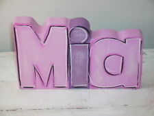 LINDY ART WOOD STAND UP NAMES - PERSONALISED & COLOUR CHOICE.  PRICE PER LETTER