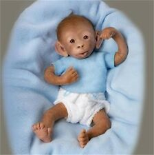 ASHTON DRAKE So Truly Real BOBO Lifelike Baby MONKEY Doll