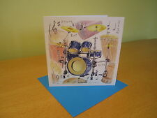 DRUMKIT  Greetings Card with envelope - blank for your own message