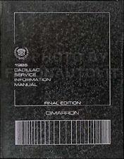 1986 Cadillac Cimarron Original Shop Manual 86 Repair Service OEM Book