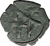 Andronicus II Palaeologus Michael IX 1295AD Trachy Ancient Byzantine Coin i59384