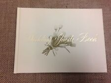 Hardback wedding guest book - good match for hessian product