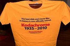 Kodak Kodachrome History Tee Shirts 1935-2010 Imprinted on Front & Back Nice!!