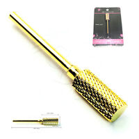 USA Safety Gold Nail Carbide Bit For 3/32 Electric Drill Nail File Art Buffer