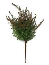 Artificial Forest Fern Bush x 40cm - Green/Brown - Wild Foliage Filler