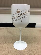 2 x Moet Ice Imperial Champagne White New Style Plastic Goblet Glass - Brand New