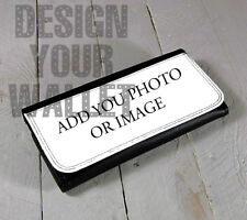 Personalized womens wallet, bifold wallet, custom add your image logo or art