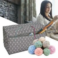 Knitting Bags Yarn Storage Tote Carry Crochet Hook Knitting Needle Organizer