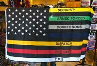 3X5 US POLICE LAW ENFORCEMENT ALL AGENCIES FLAG 3X5 AMERICAN LAW ENFORCEMENT USA