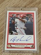 2005 UD origins signatures Ryan Howard Auto on card
