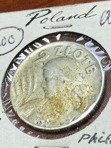 1925 Poland 2 Zlote Original Toned AU Super Estate Collection Piece CHN