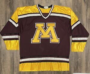 Minnesota Gophers Vintage 90s WCHA Hockey Jersey Mens L Koronis Sports Apparel