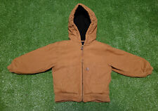 Carhartt Quilt Lined Sandstone Brown Hooded Jacket~Winter Coat~Youth Size 3T~EC