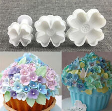 3pcs DIY Bakeware Flower Plunger Cutter Mold Embossed Stamp Fondant Cake Cookie