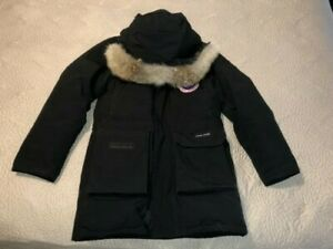 Canada Goose Expedition Down Parka Fur Arctic Winter Coat BLACK S