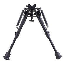 """6""""-9"""" Adjustable Rifle Gun Bipod Metal Spring Sling Swivel w/ Rail Mount Adapter"""