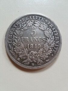 5 FRANCS ARGENT CERES 1849 BB SUPERBE +(BELLE DATE)