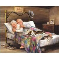 DIY Full 5D Diamond Painting Cross Stitich Old Couple Embroidery Souvenir