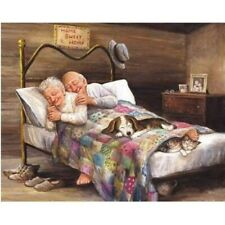 DIY Full 5D Diamond Painting Cross Stitch Old Couple Embroidery 40*30cm