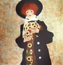 Egon Schiele, Portrait of Gerti Schiele, Plate Signed Chromolithograph