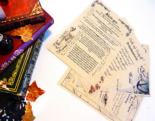 Harry Potter inspired journal, spell and potion pages