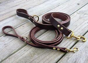 Genuine Leather Leash, Premium Bridle Leather Dog Leash, Choose Width and Length
