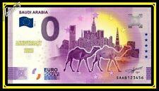 0 euro Souvenir Billet Schein Saudi Arabia 2021 Arabie Saoudite SAAB Anniversary