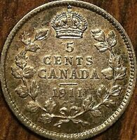 1911 CANADA SILVER 5 CENTS COIN - Fantastic example!