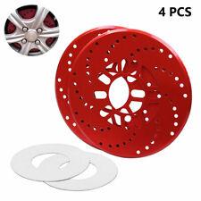 2PAIR Car Aluminum Alloy Wheel Brake Disc Cover Decorative Rotor Cross Drilled