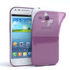 Ultra Slim Cover für Galaxy S3 Mini Case Silikon Hülle Transparent Lila