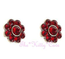 Classic Cluster Floral Flower Colorful Bling Stud Earrings w/ Swarovski Crystals
