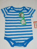Infant Boy 0 3 6 9 Month One Piece Summer Sunglasses On Shirt Creeper