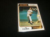 1974 TOPPS BASEBALL JIM PALMER BALTIMORE ORIOLES CARD ,#40 EX-NRMT  G303