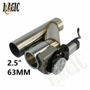"""2.5"""" 63mm Electric Exhaust Catback Cutout Valve System w/ Remote Controller Kit"""
