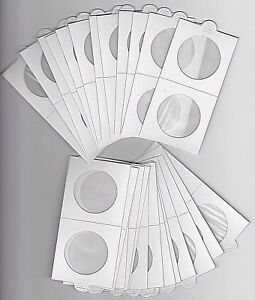 """LIGHTHOUSE 35mm SELF ADHESIVE 2""""x 2"""" COIN HOLDERS x 25 - SUIT PENNY or 50CENT"""