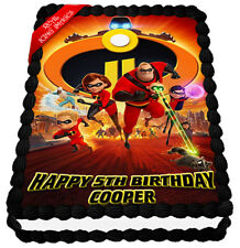 The Incredibles 2 Edible Icing Image Cake Topper Personalised Party Decoration