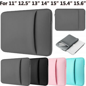 """Tablet Laptop Neoprene Zip Bag Case For 11"""" 12"""" 14"""" 15"""" inch Sleeve Pouch Cover"""