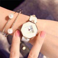 Lady Women 's Fashion Leather Band Analog Quartz Diamond Wrist Watch Watches
