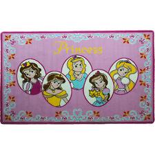"GIRLS CHILDREN ROOM BED ROOM RUG FIVE PRINCESS PINK 3'3""x4'9"" NON SKID AREA RUG"
